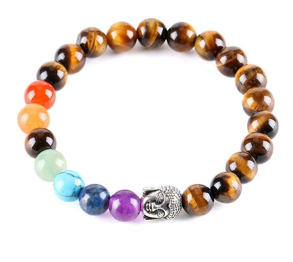 Natural Tiger Eye Buddha Bracelet Jewelry SoulOnSoul