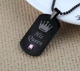 King And Queen Necklace Jewelry SoulOnSoul