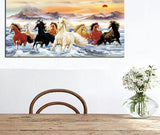 Beautiful Horse Canvas Art Home & Garden SoulOnSoul no frame 40x80cm B