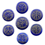 Seven Archangels Summon Magic Circle Set crystal SoulOnSoul Blue White Zinc Plated