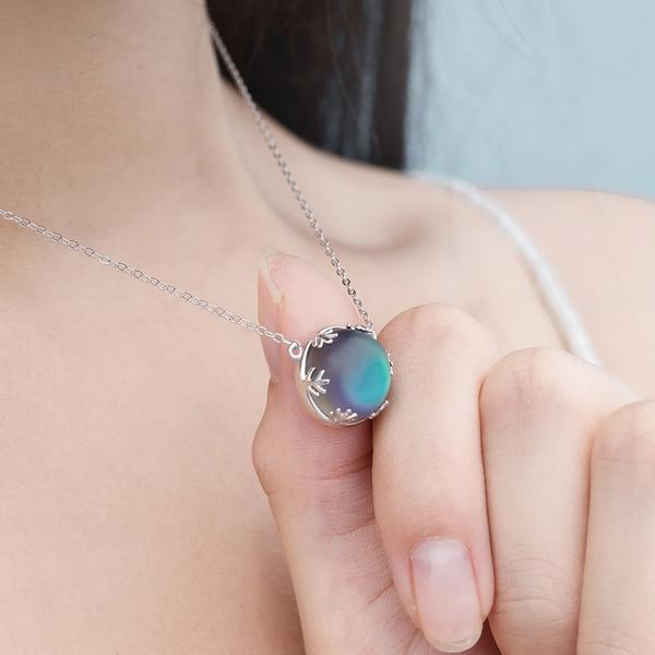 Celestial Aurora Borealis Necklace (925 Sterling Silver) SoulOnSoul