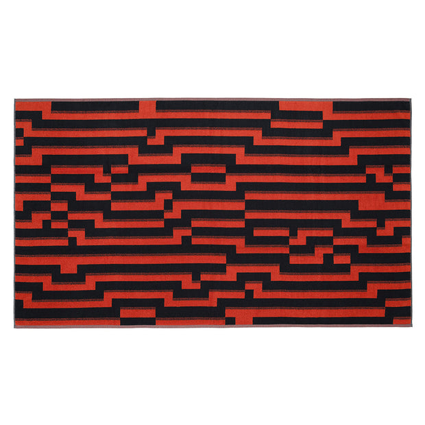 Bitmap Orange Waves Beach Towel