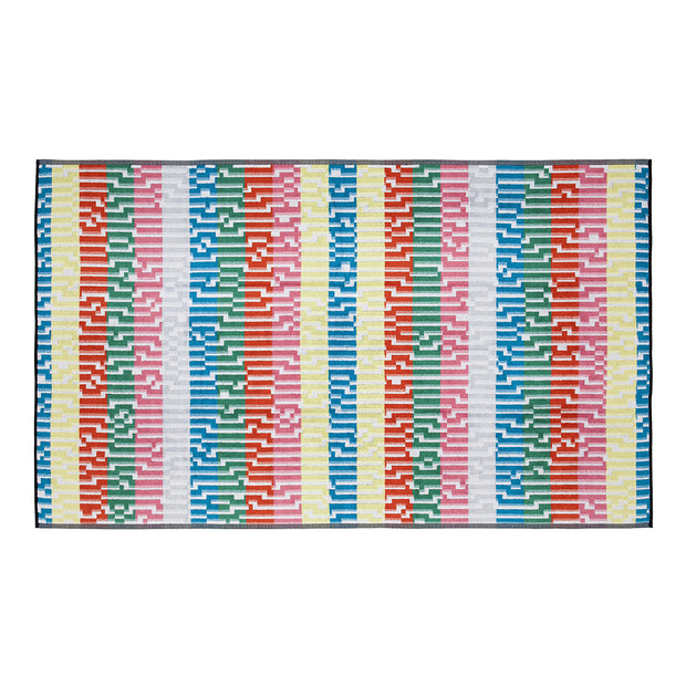 Bitmap Mini White Waves Beach Towel