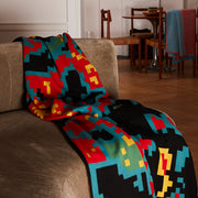Digital Sunrise Merino Wool & Silk Knitted Throw