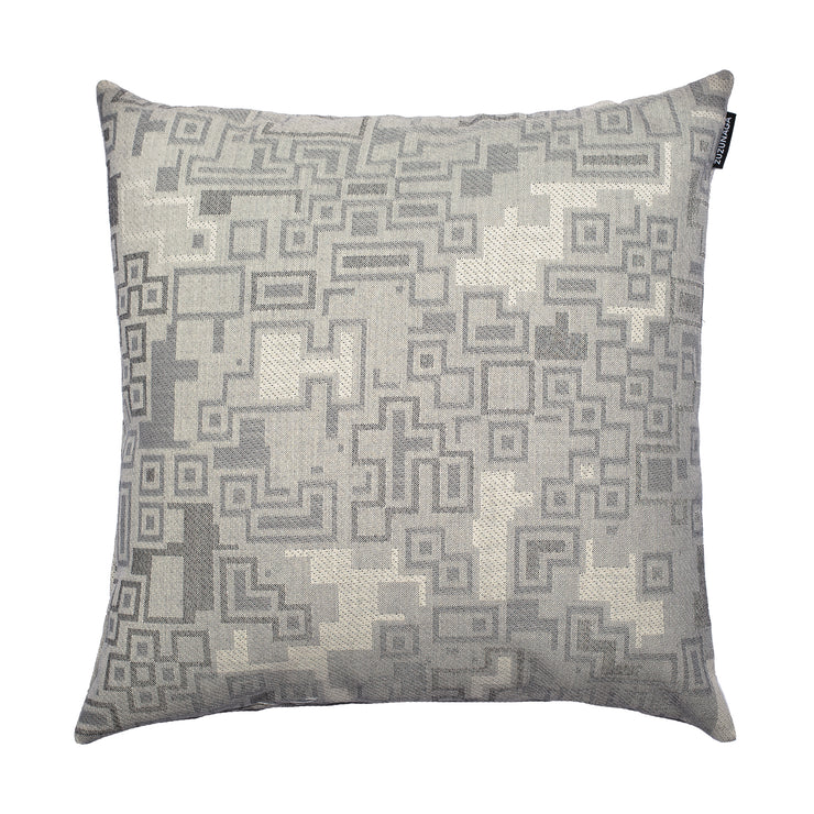 Inca Bold Grey and White Cushion