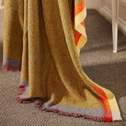 Sensation Yellow 100% Merino Wool Handwoven Throw
