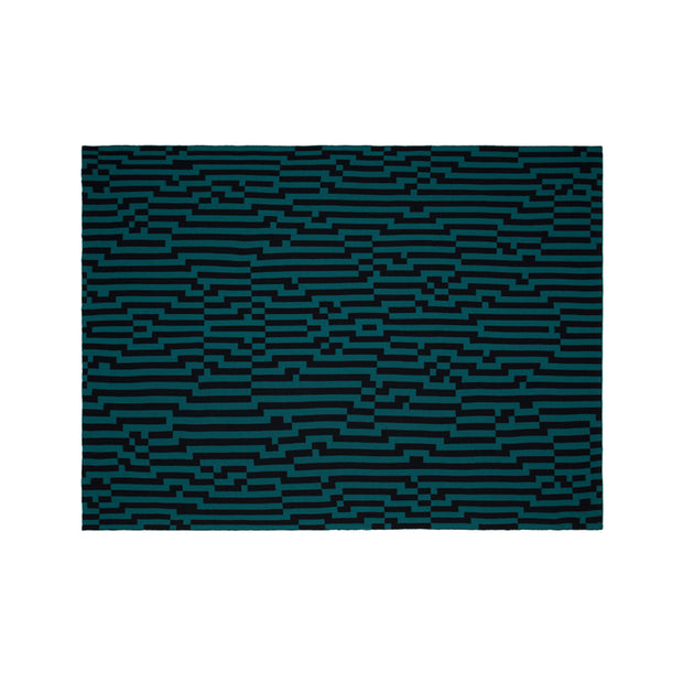 Bitmap Zoom In Mint and Black Throw