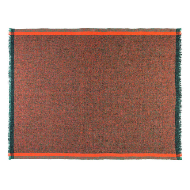 Thinking Red 100% Merino Wool Handwoven Throw