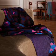 Digital Sunset Merino Wool & Silk Knitted Throw