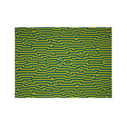 Bitmap Zoom In Yellow and Green Throw