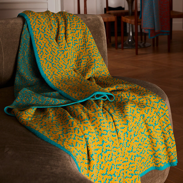 Bitmap Labyrinth Golden Ochre Throw