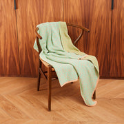 Bitmap Labyrinth Fresh Green Throw