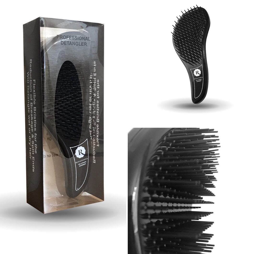 Rich & Famous The Ultimate Detangler Brush With Handle All Hair Types