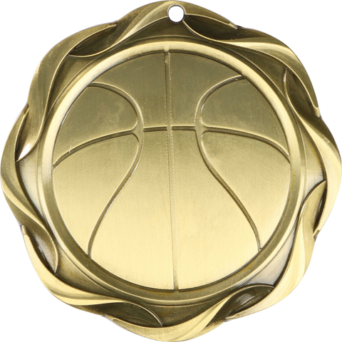 "#45005 Basketball Fusion Medal 3"" with Ribbon"