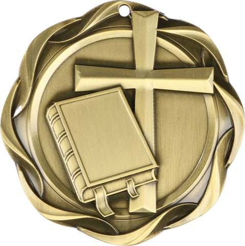 "#45014 Religion Fusion Medal 3"" with Ribbon"