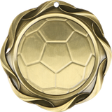 "#45015 Soccer Fusion Medal 3"" with Ribbon"