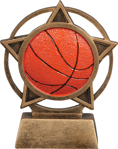 56905GS Orbit Resin Basketball Trophy