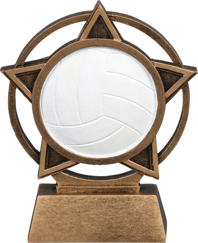 56918GS Orbit Resin Volleyball Trophy