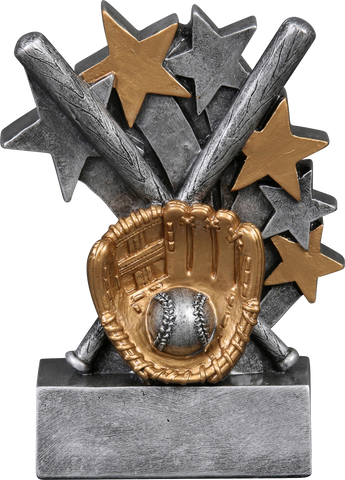 57203GS Star Blast Resin Baseball Trophy