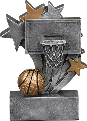 57205GS Star Blast Resin Basketball Trophy