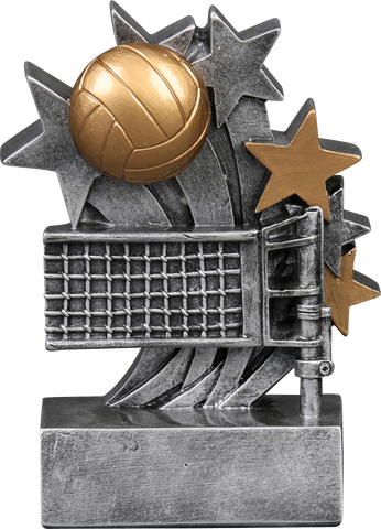 57218GS Star Blast Resin Volleyball Trophy