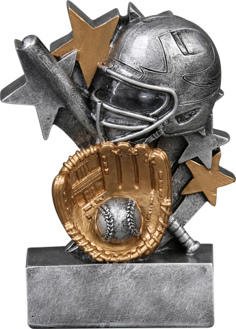 57220GS Star Blast Resin Softball Trophy