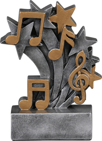 57226GS Star Blast Resin Music Trophy