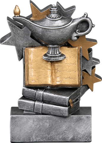 57263GS Star Blast Resin Knowledge Trophy