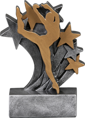 57273GS Star Blast Resin Dance Trophy