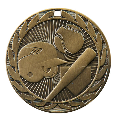 "FE-201 Softball Medal 2"" with Ribbon"