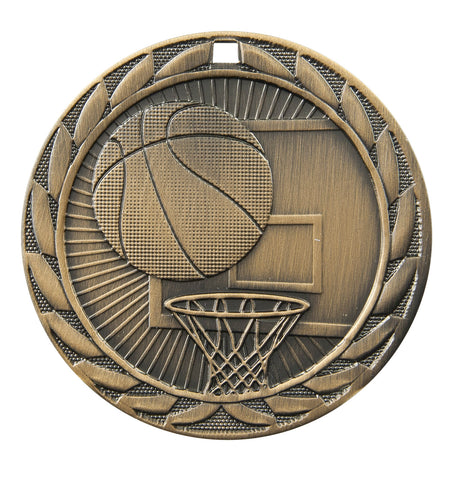"FE-211 Basketball Medal 2"" with Ribbon"