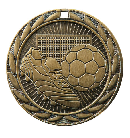 "FE-213 Soccer Medal 2"" with Ribbon"