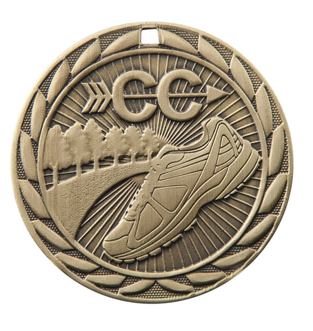"FE215 Cross Country Medal 2"" with Ribbon"