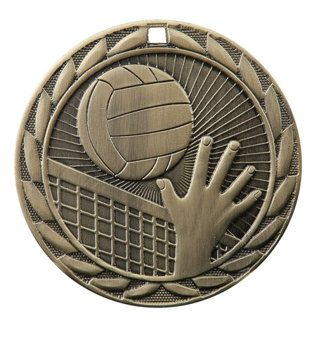 "FE-224 Volleyball Medal 2"" with Ribbon"