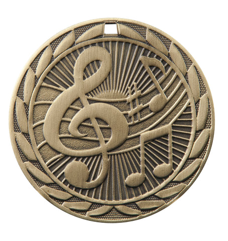 "FE-230 Music Medal 2"" with Ribbon"