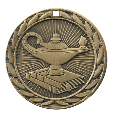 "FE-250 Lamp of Learning Medal 2"" with Ribbon"