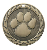 "FE-266 Paw Print Medal 2"" with Ribbon"