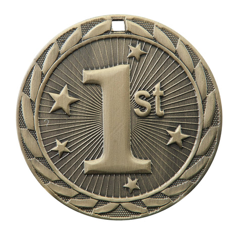 "FE 1st / 2nd / 3rd Medal 2"" with Ribbon"