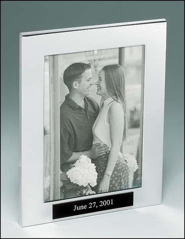 Polished Silver Aluminum Picture Frame