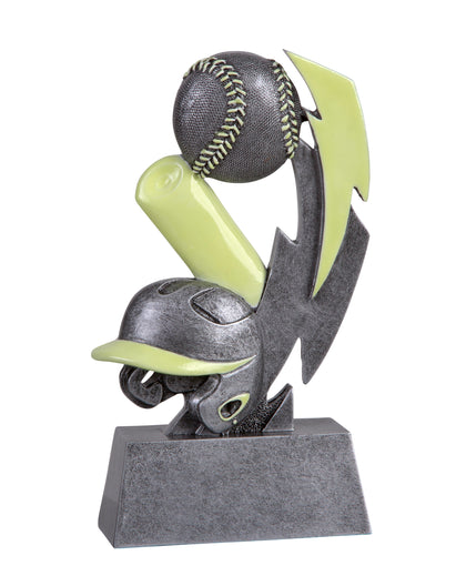 GLO-601 Glow in the Dark Resin Baseball Trophy