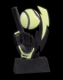 GLO-625 Glow in the Dark Resin Football Trophy