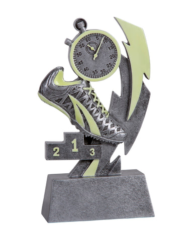 GLO-616 Glow in the Dark Resin Track Trophy
