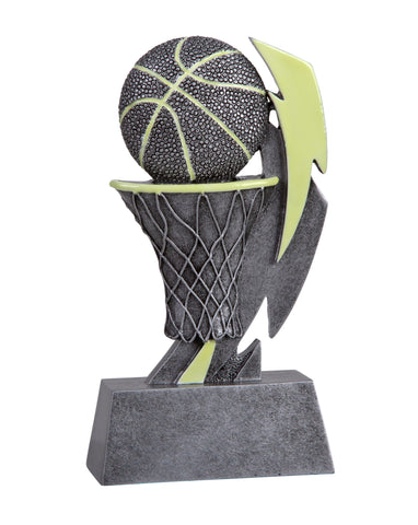GLO-620 Glow in the Dark Resin Basketball Trophy