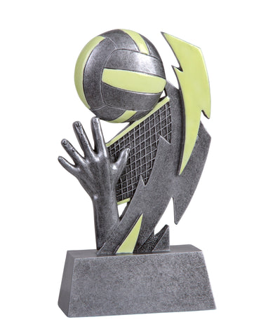 GLO-650 Glow in the Dark Resin Volleyball Trophy