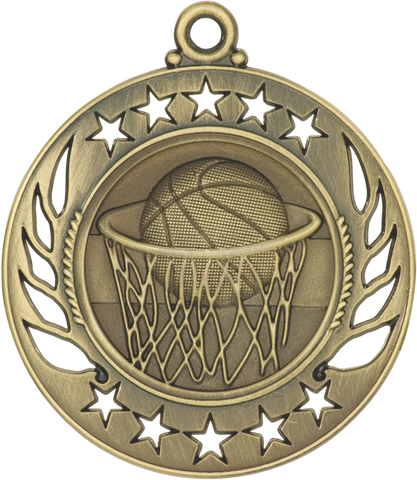 "GM102 Basketball Medal 2.25"" with Ribbon"