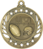 "GM104 Football Medal 2.25"" with Ribbon"