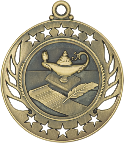 "GM107 Lamp of Knowledge Medal 2.25"" with Ribbon"