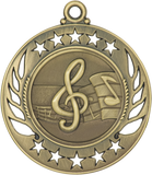 "GM108 Music Medal 2.25"" with Ribbon"