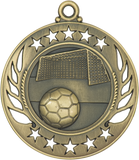 "GM109 Soccer Medal 2.25"" with Ribbon"