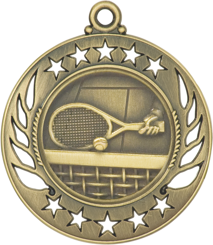 "GM116 Tennis Medal 2.25"" with Ribbon"